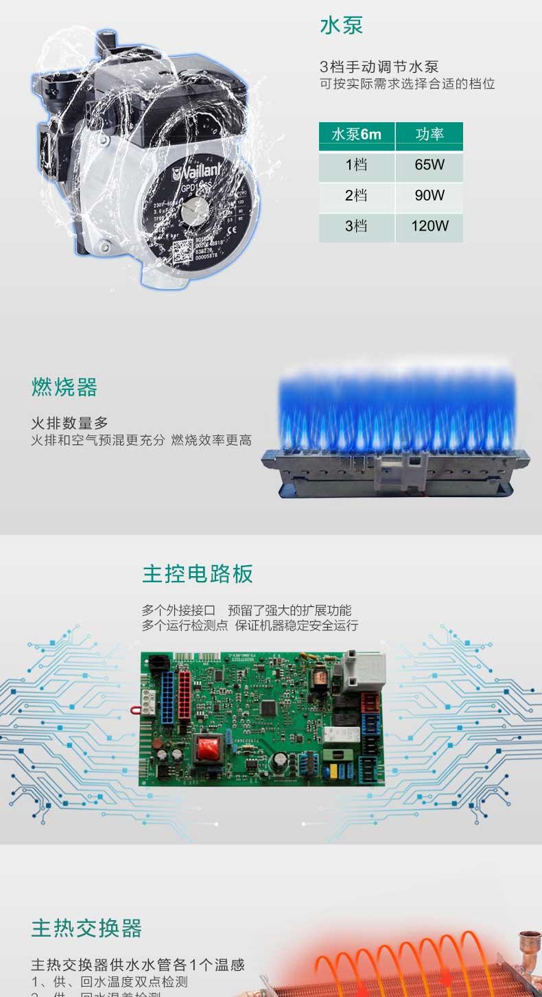 威能国内组装24kw采暖热水两用壁挂炉特点